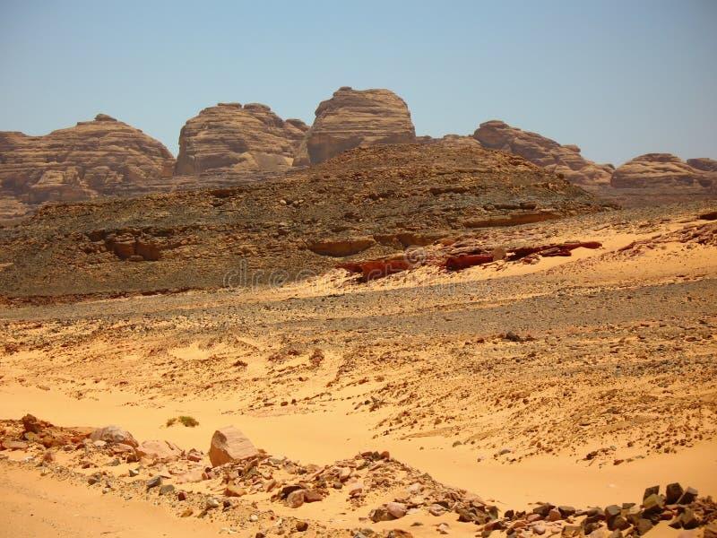 Montagne il deserto. L'Africa immagine stock