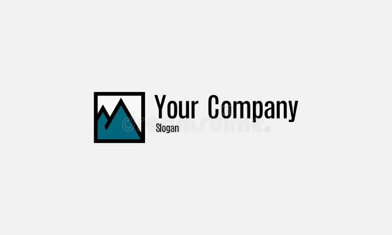 Montagne initiale de logo image stock