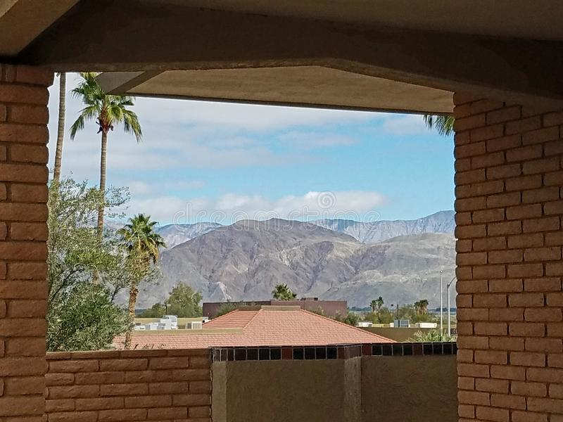 Montagne intorno a Borrego Springs immagini stock libere da diritti