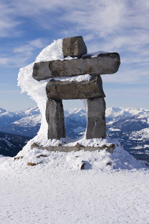 Montagne Inuk'Shuk de siffleur image libre de droits