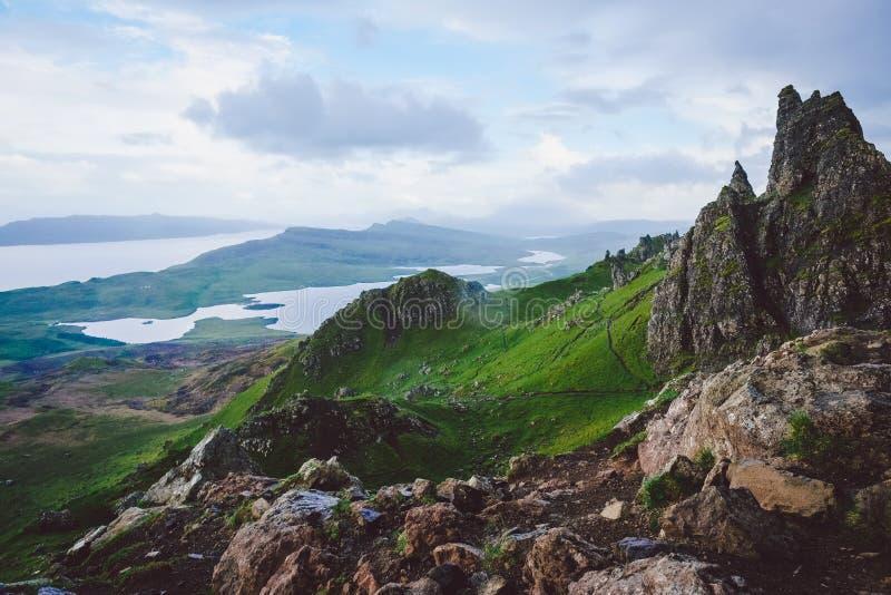 Montagne, isola di Skye fotografia stock