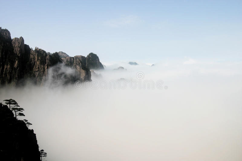 Montagne jaune, Chine photographie stock