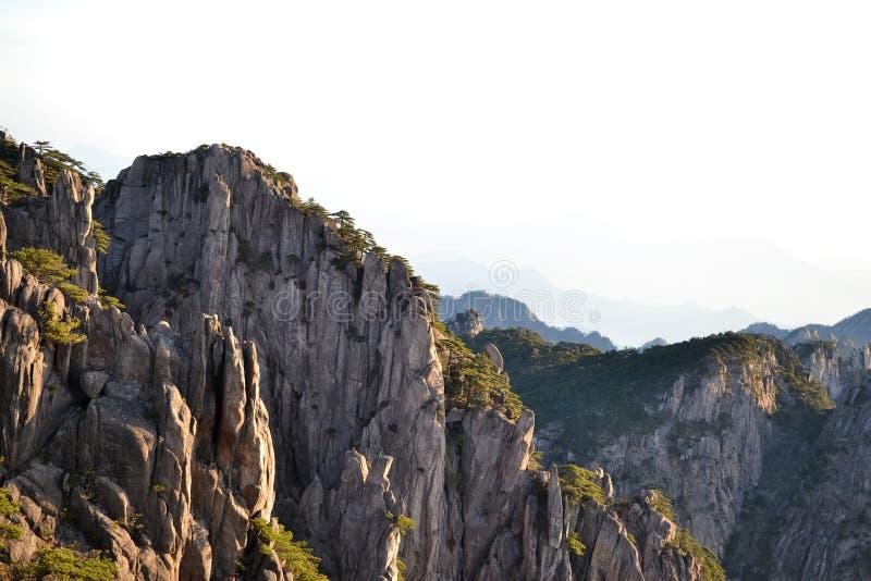 Montagne jaune de Huangshan dans Anhui, Chine, patrimoine mondial de l'UNESCO photo stock