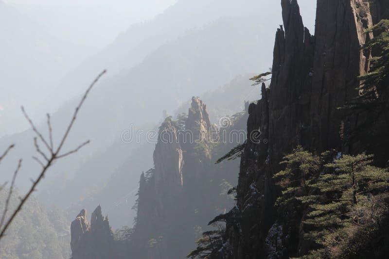 Montagne jaune - Huangshan, Chine image libre de droits