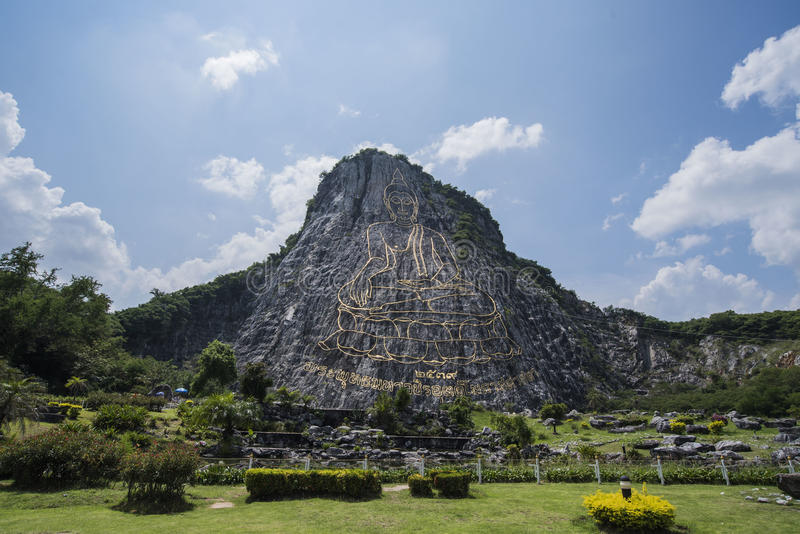 Montagne Khao Chee Chan de Bouddha image libre de droits
