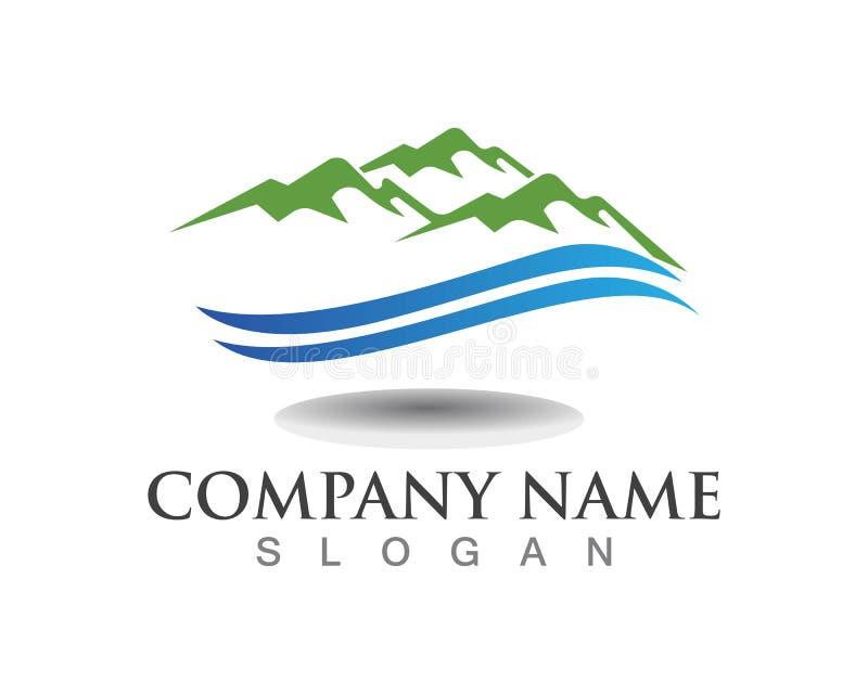 Montagne Logo Business Template Vector illustration libre de droits