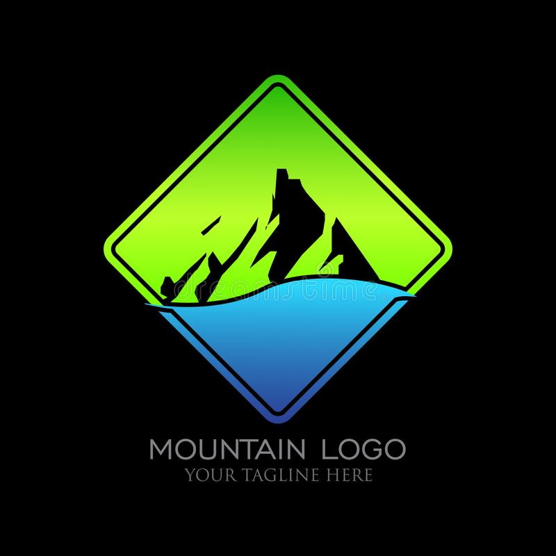 Montagne Logo Design illustration libre de droits