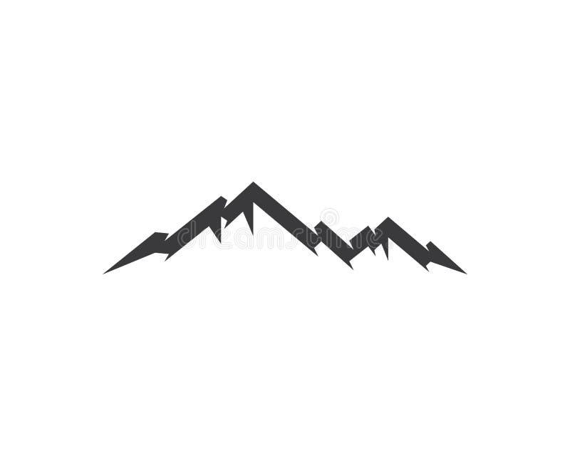 Montagne Logo Template illustration de vecteur