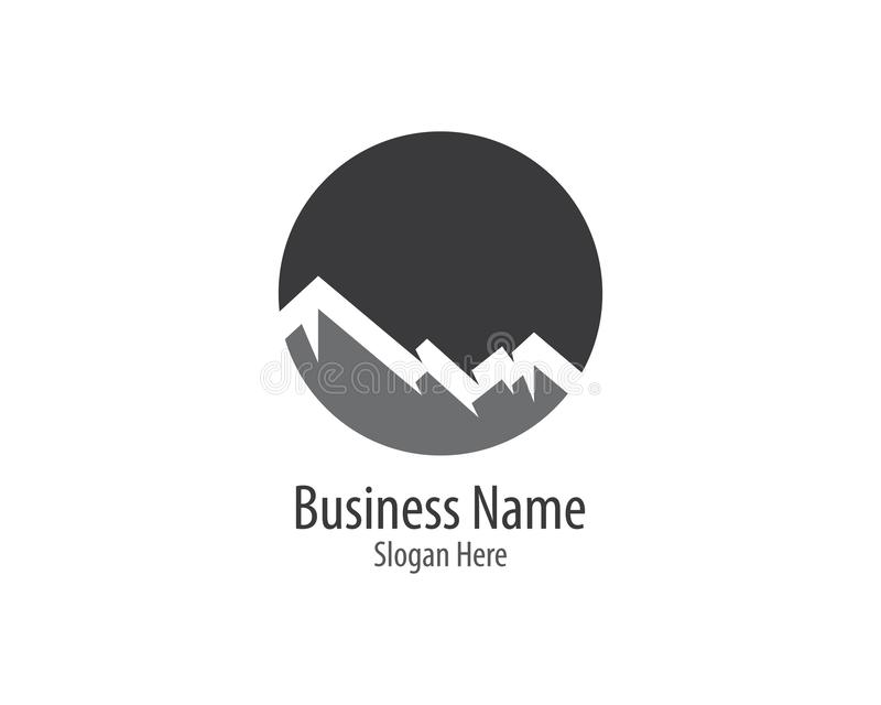 Montagne Logo Template illustration stock