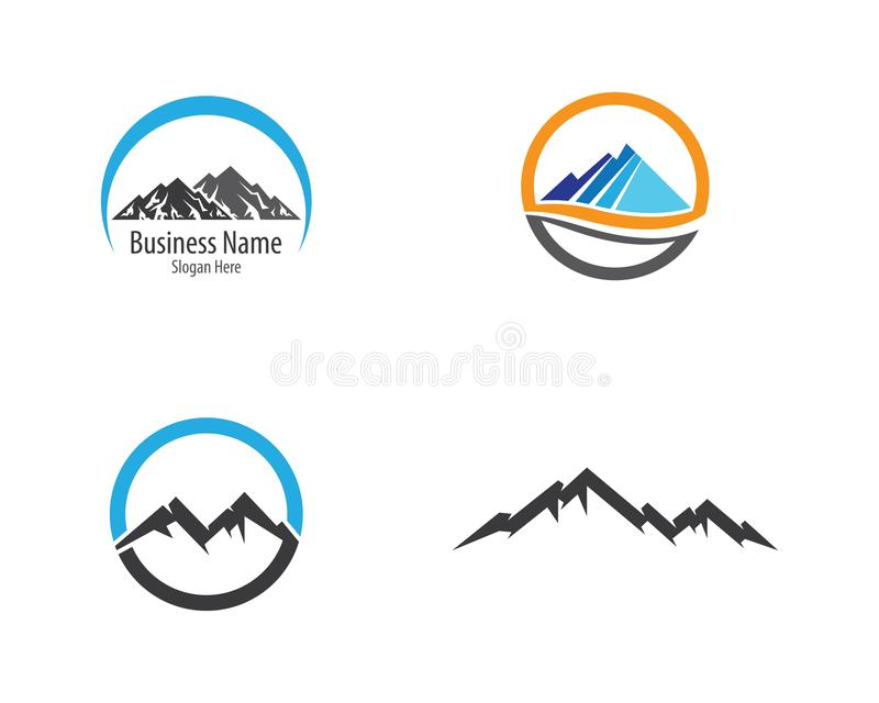 Montagne Logo Template illustration stock
