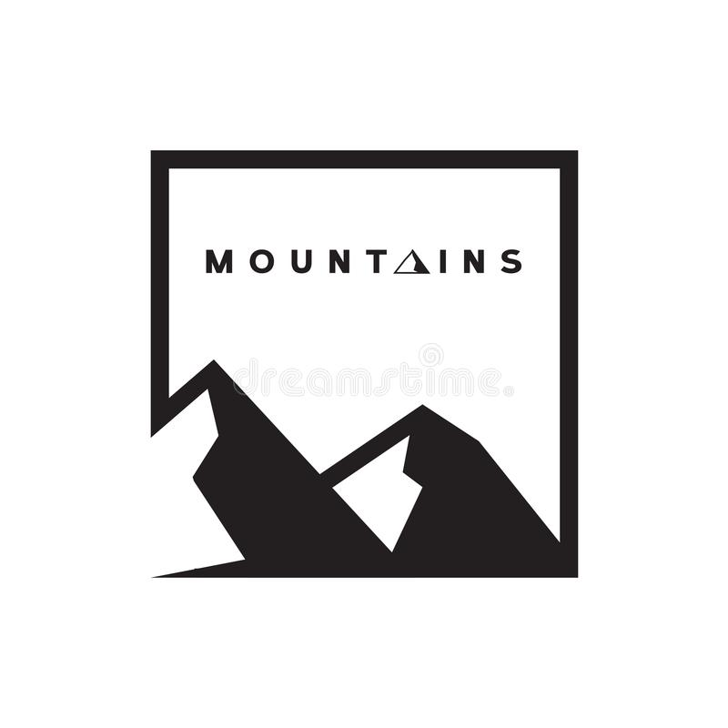 Montagne Logo Vector immagine stock