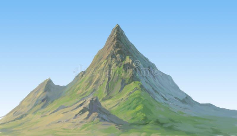Montagne lointaine illustration libre de droits