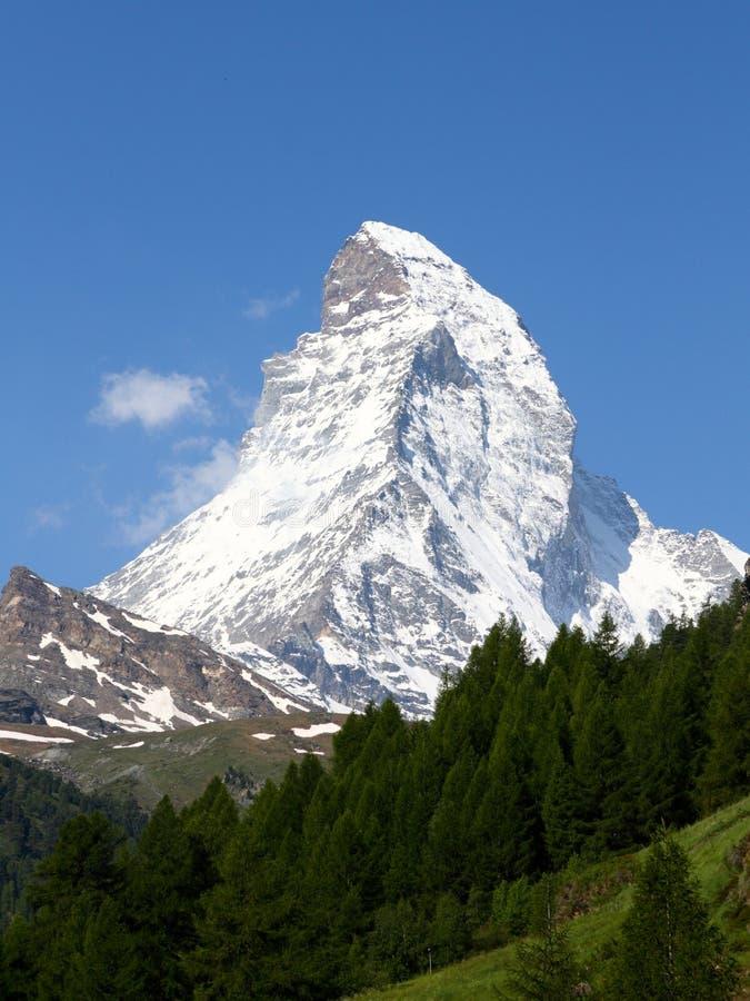 Montagne Matterhorn en été photos stock
