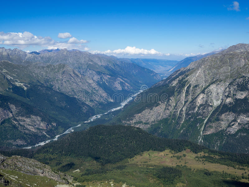 Montagne Mussa-Achitara de Dombay image stock