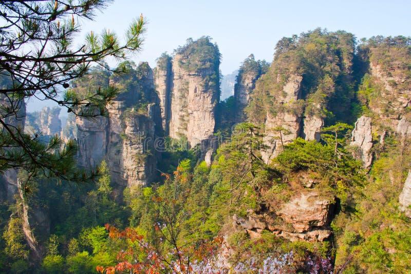 Montagne mystérieuse Zhangjiajie. photos libres de droits