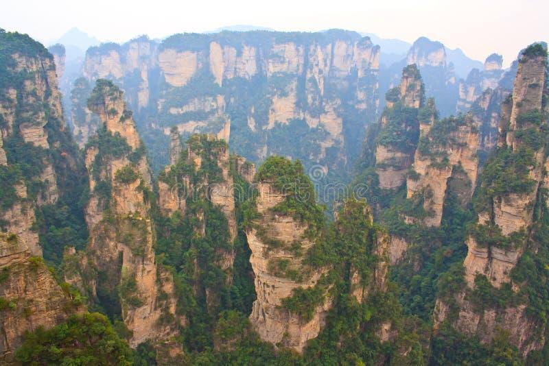 Montagne mystérieuse Zhangjiajie. images stock