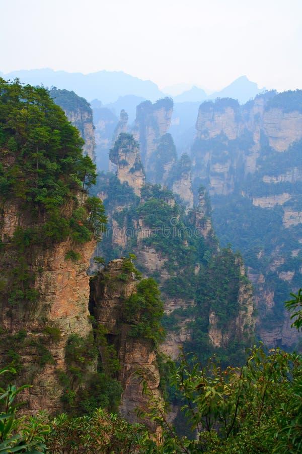 Montagne mystérieuse Zhangjiajie. photographie stock