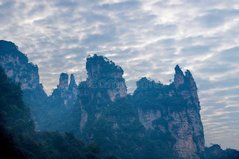 Montagne nazionali di Zhangjiajie Forest Park Jinbian Creek Shilihualang del Hunan fotografia stock