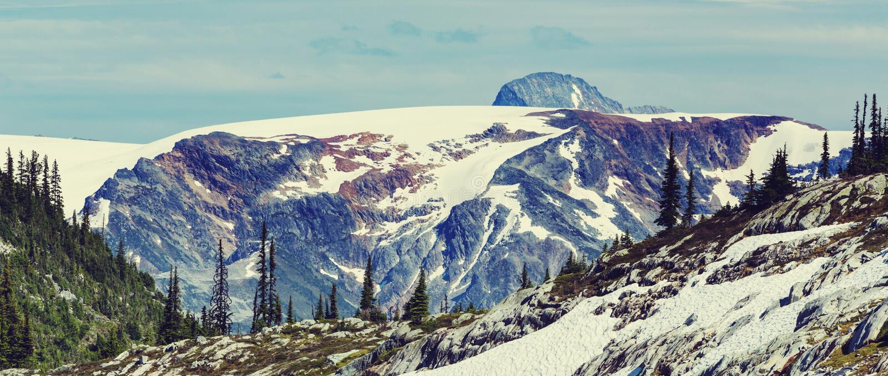 Montagne nel Canada fotografie stock libere da diritti