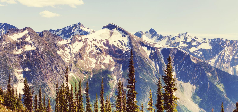 Montagne nel Canada immagini stock libere da diritti
