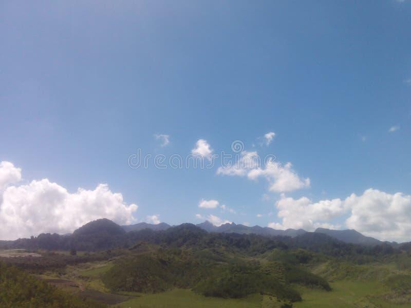 Montagne Nglegok de Kelud blitar image stock