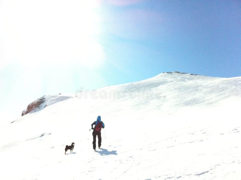 Montagne Norvège de neige image libre de droits