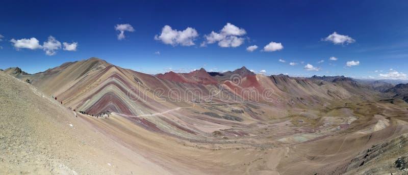 Montagne Perù d'arc-en-ciel image stock