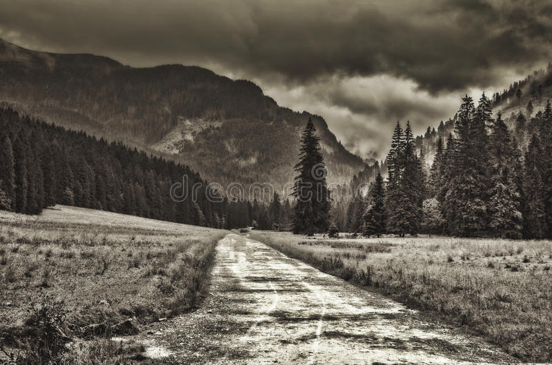 Montagne polacche fotografie stock