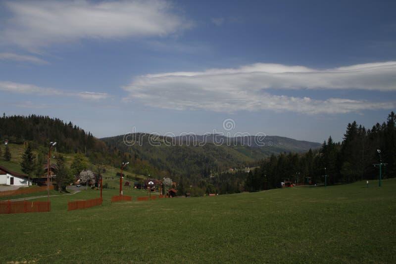 Montagne polacche della Slesia Beskid immagini stock