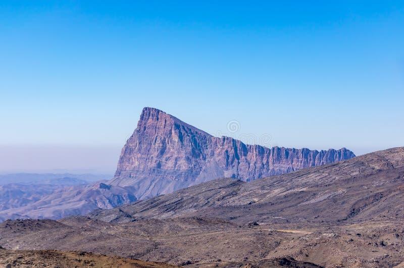 Montagne près des feintes de Jebel - Sultanat d'Oman photographie stock