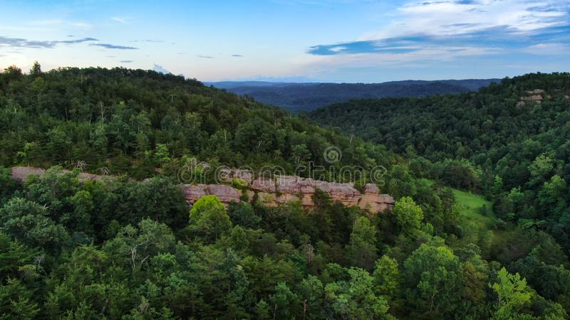 Montagne Rocky Outcropping In Tennessee photos libres de droits