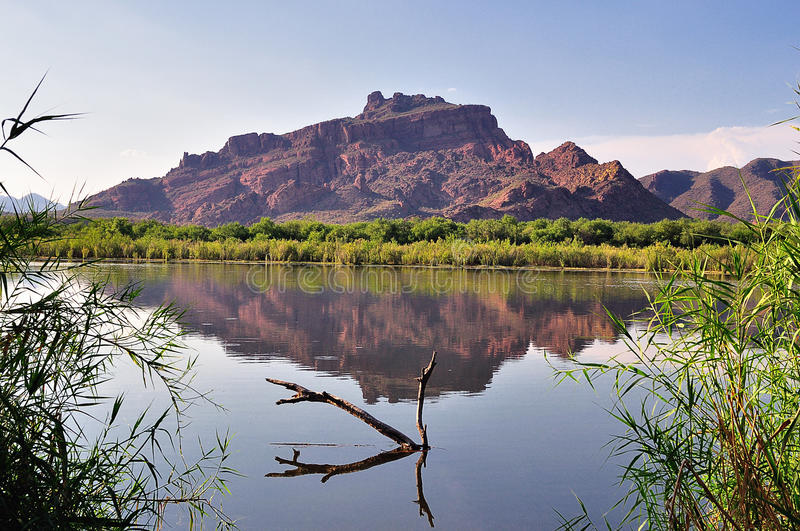 Montagne rouge Arizona photos libres de droits