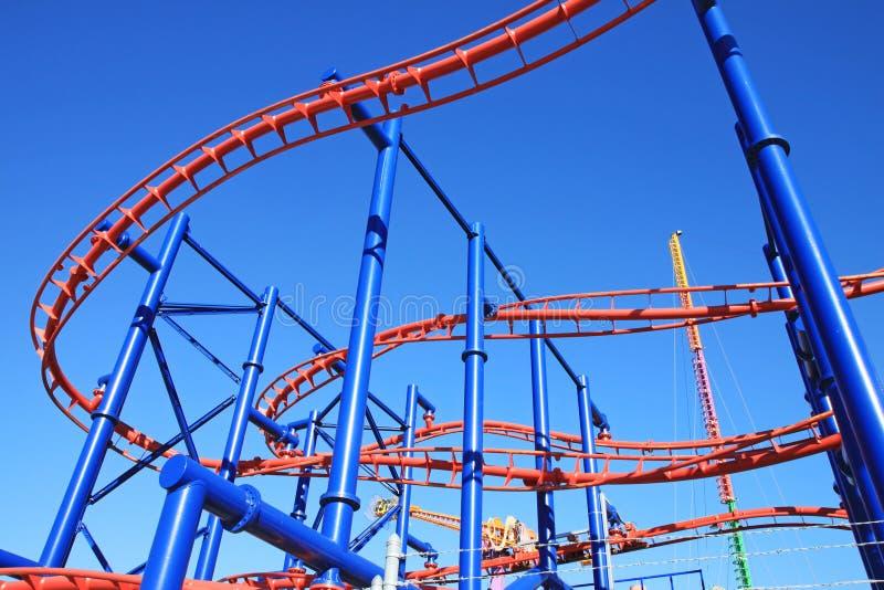 Montagne russe dans Coney Island photos stock