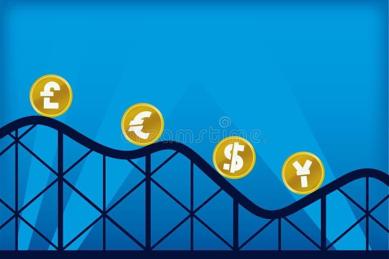 Montagne russe di economia (vettore) royalty illustrazione gratis