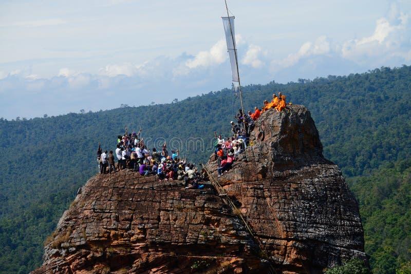 Montagne sainte en Thaïlande Phitsanulok images libres de droits