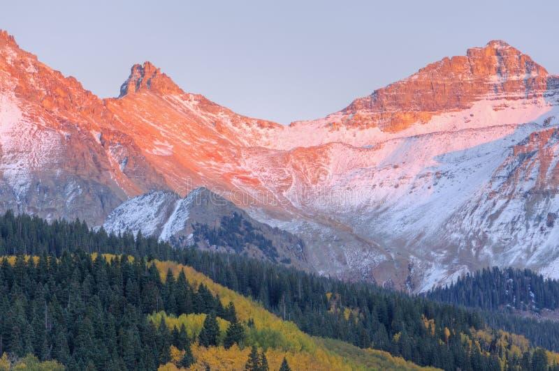 montagne san del juan di autunno immagine stock libera da diritti