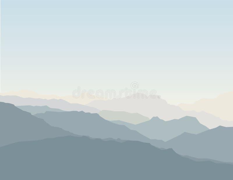 Montagne scénique illustration stock