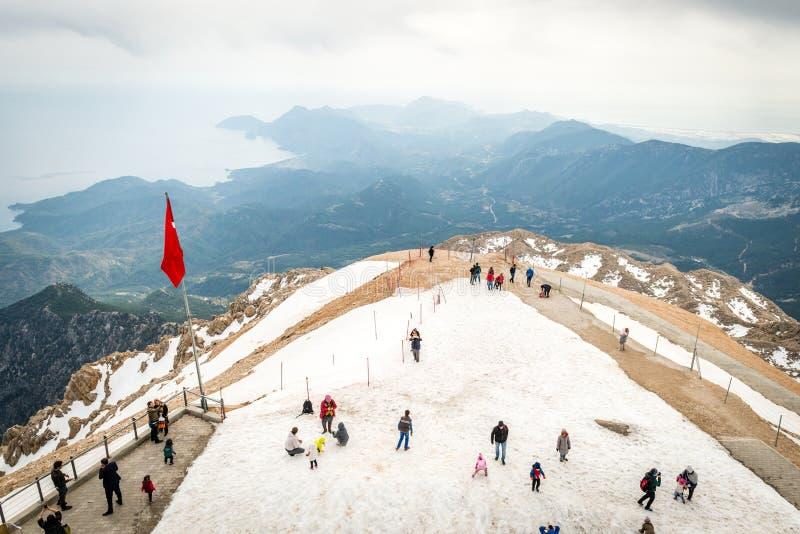 Montagne Tahtali, Kemer en Turquie photographie stock libre de droits