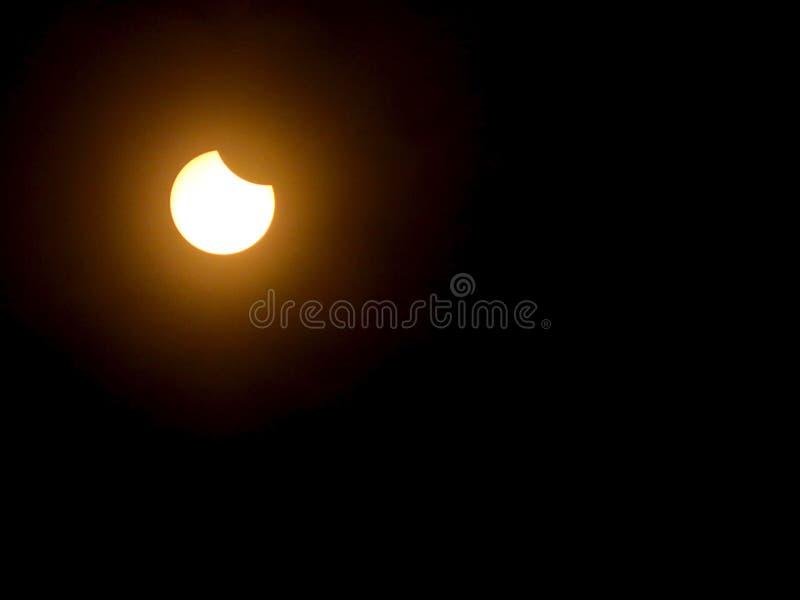 Montagne totali di eclissi solare immagine stock libera da diritti