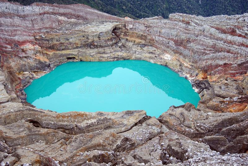Montagne verte Dempo de Carter photographie stock