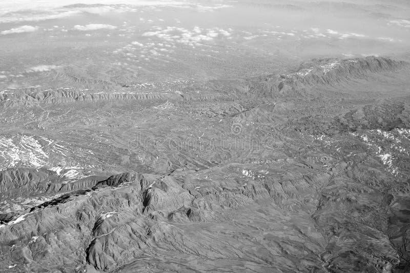 Montagne, vista aerea Superficie della Terra Protezione dell'ambiente ed ecologia smania dei viaggi e viaggio Corrisponda su alla fotografia stock