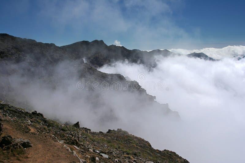 Montagne vulcaniche fotografia stock