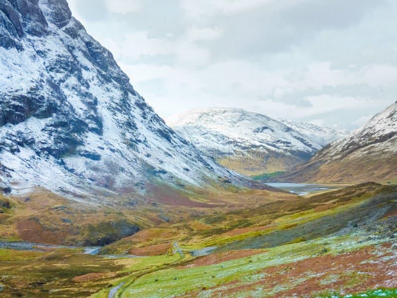 Montagnes écossaises scéniques, Glencoe, Ecosse photo stock