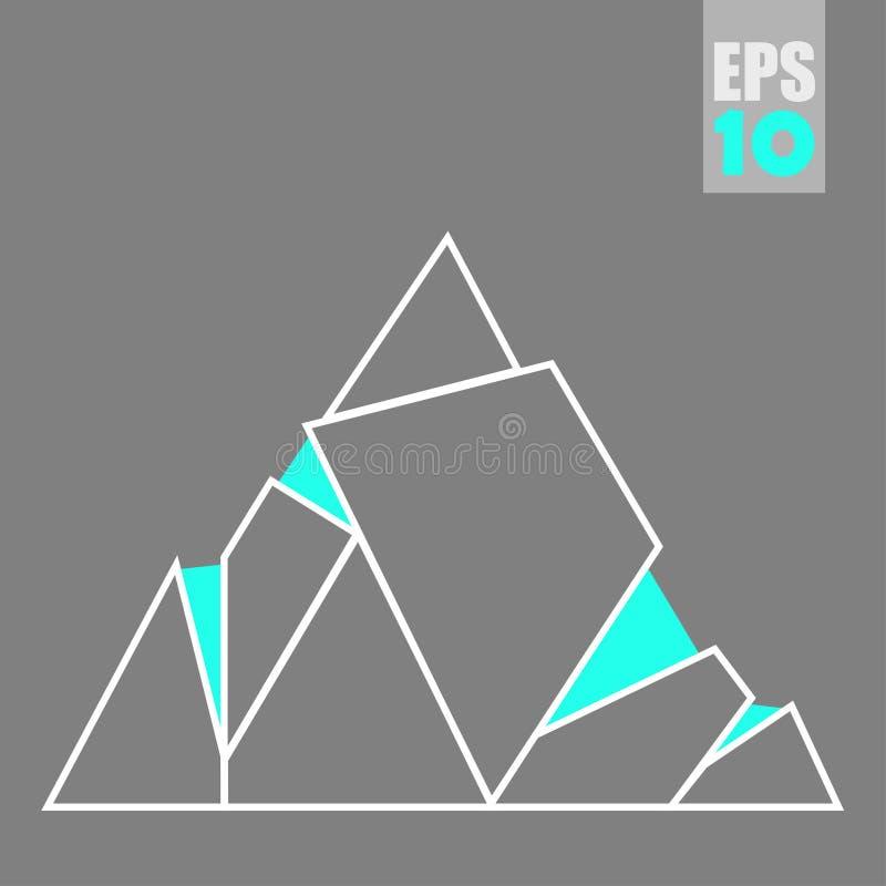 Montagnes abstraites de triangles de vecteur illustration stock
