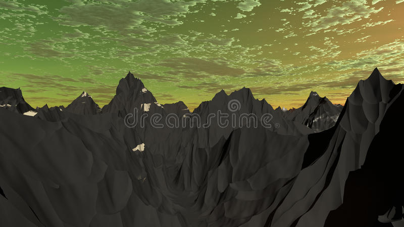Montagnes argentées 1 photographie stock