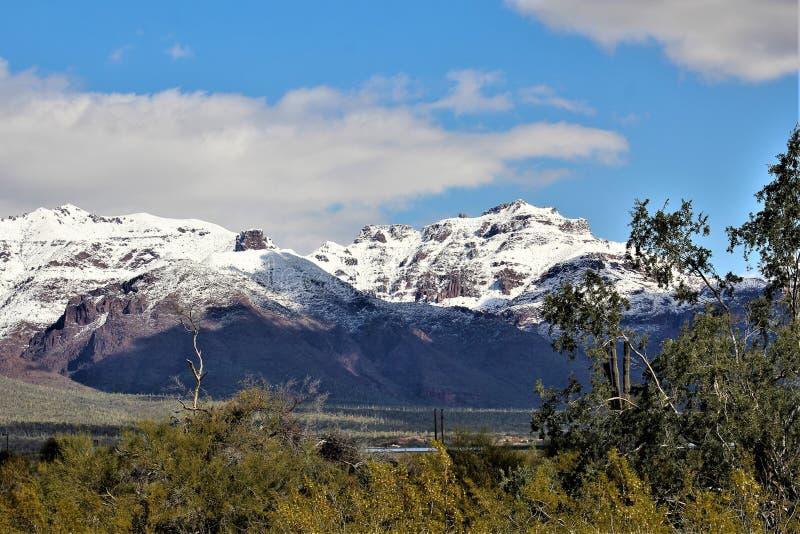 Montagnes Arizona, réserve forestière de Tonto, jonction d'Apache, Arizona, Etats-Unis de superstition photos libres de droits