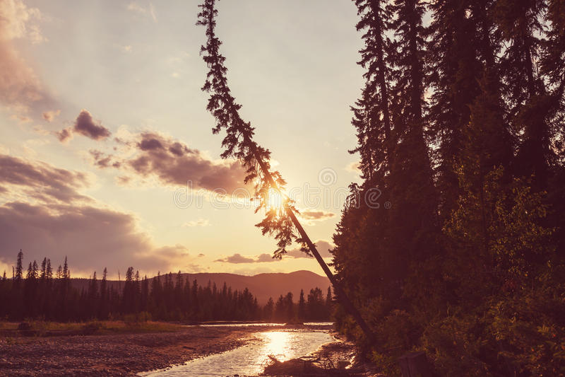 Montagnes au Canada photographie stock