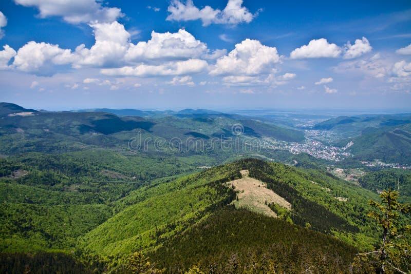Montagnes carpathiennes. images stock