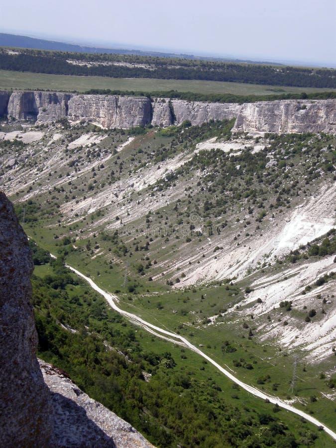 montagnes criméennes Bakhchisarai images libres de droits