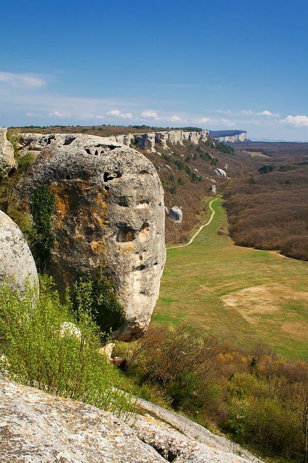 montagnes criméennes de gorge image stock